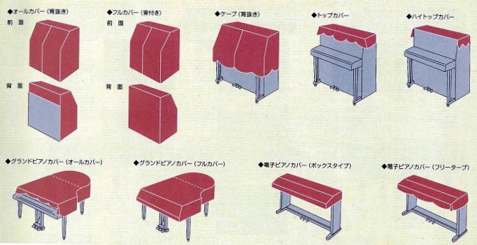 ピアノカバー種類